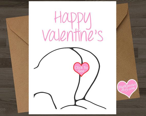 valentine card boyfriend girlfriend husband by bigrooster on etsy - Etsy Valentines Cards