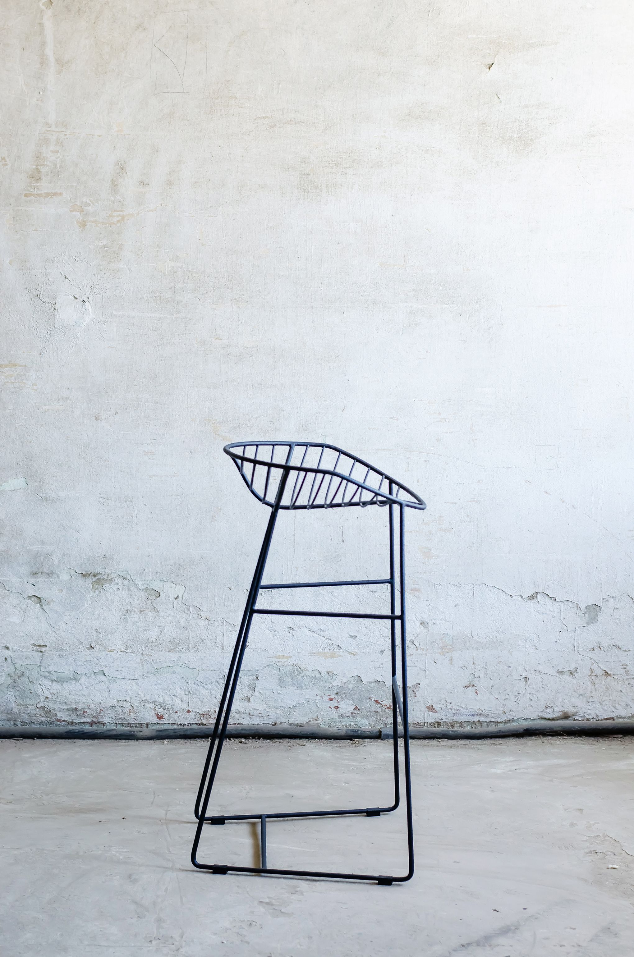 LYSTOK Bar Stool #steel #wire #loft