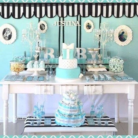 Tiffany Baby Shower Decorations