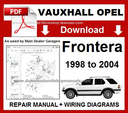 Vauxhall Opel Frontera Workshop Manual Wiring Diagrams Vauxhall Repair Manuals Opel