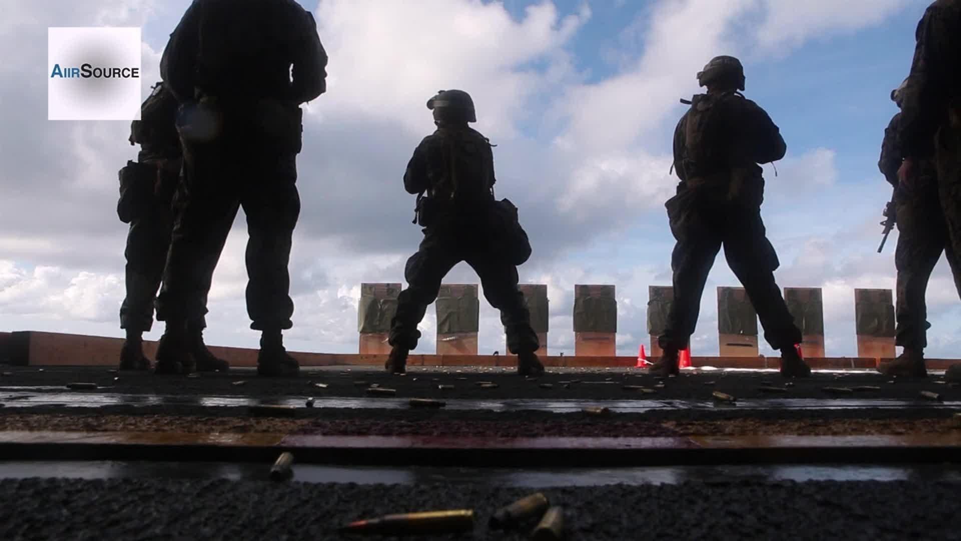us marines blt engage targets while at sea youtube us