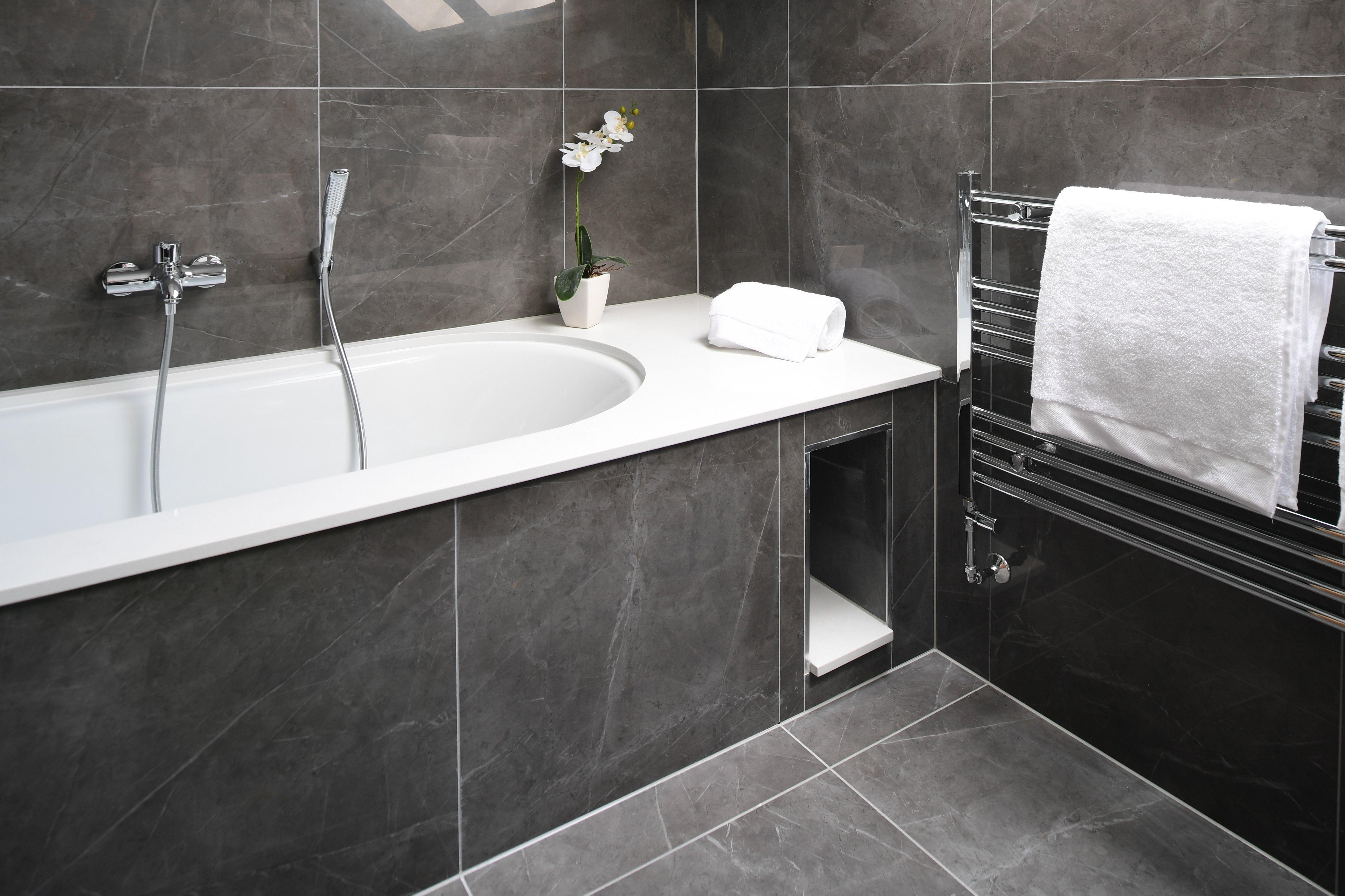 Grey Marble Effect Tiles Grey Bathrooms Designs White Bathroom