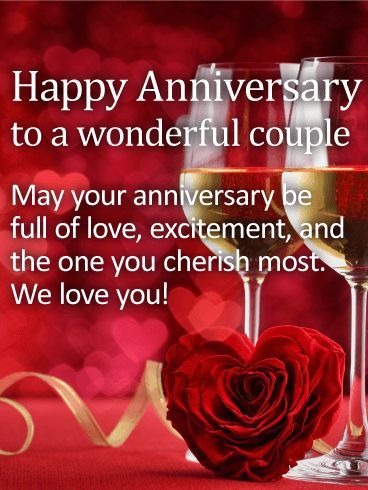 To our Love! Happy Anniversary Card Anniversary Happy