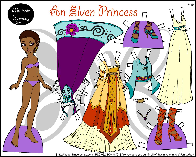 marisole monday an elven princess arielle gabriel cute black paper dolls paper doll board 22. Black Bedroom Furniture Sets. Home Design Ideas