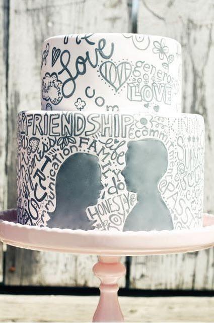 4 tartas de boda originales: con ganchillo dulce o con grafismos