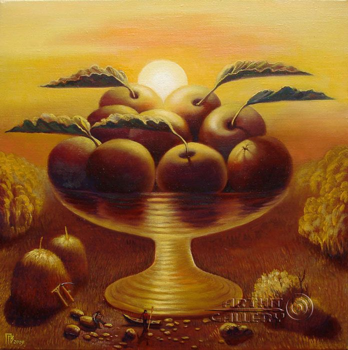 Fruit Sunset Privedentsev Gennady Sunset Art Painting
