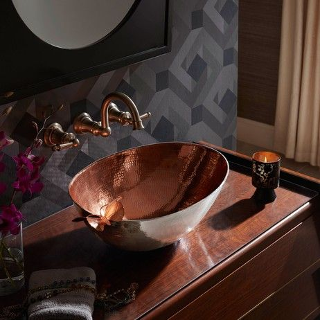 Handcrafted pure copper sink design by @thompsontraders. More details here:  #CopperOnModenus #Copper
