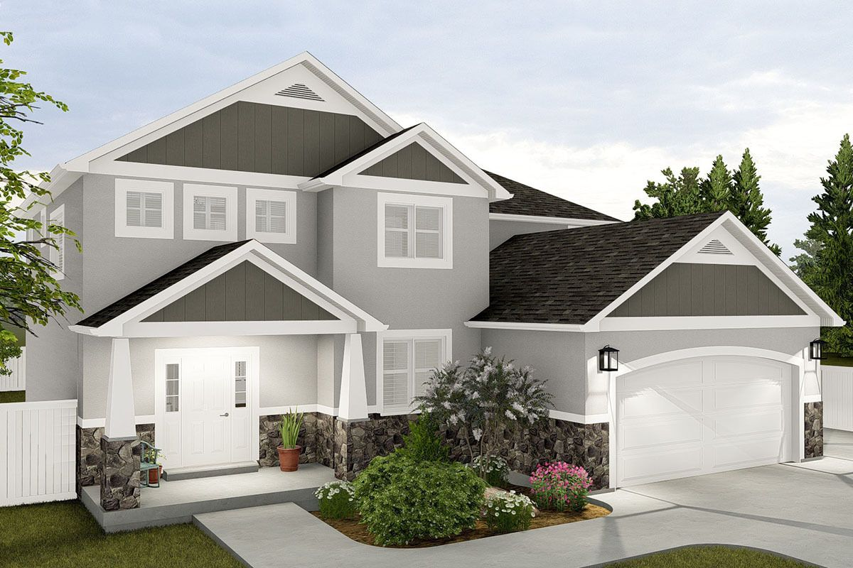 Plan 61331ut Fresh Two Story House Plan With Main Level Office In 2020 Two Story House Plans House Plans Story House