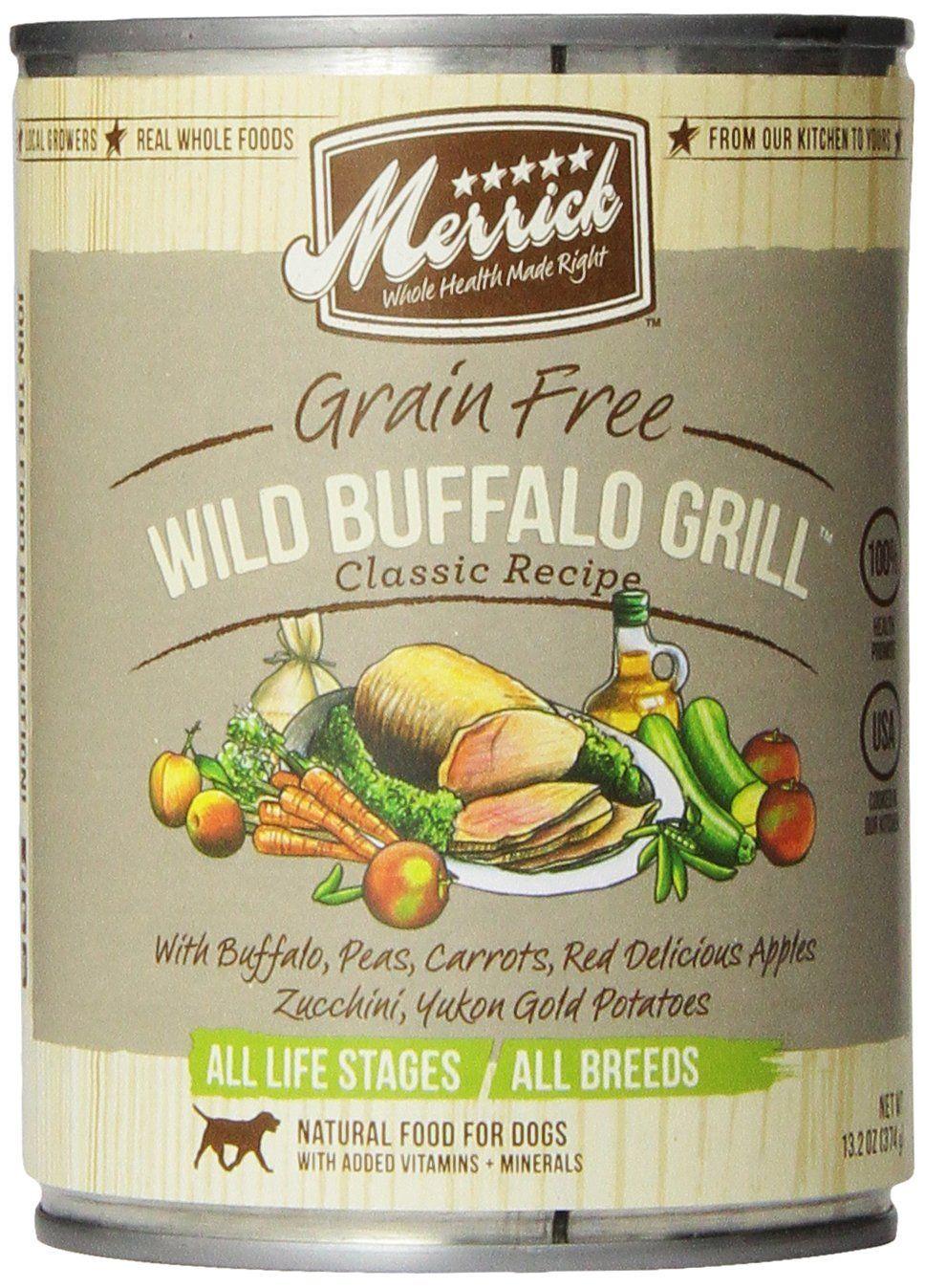 Merrick Wild Buffalo Grill Dog Food 13.2 oz (12 Count Case