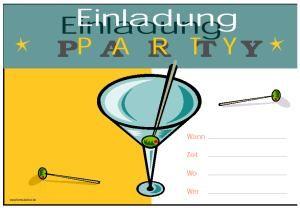 vorlage einladung party bei formularbox.de | einladungen | pinterest, Einladungsentwurf