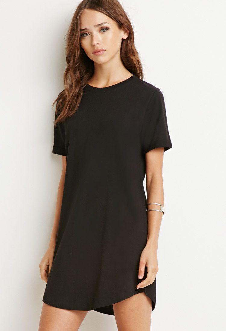 Schwarze t shirt kleider