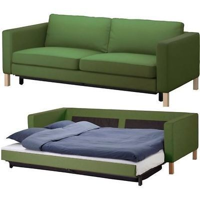 Ikea Karlstad Sofabed Cover Sivik Green, Karlstad Sofa Bed Cover
