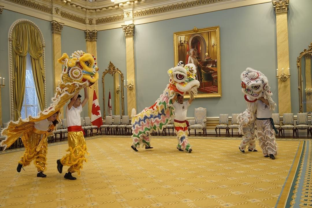 A #latergram from the #liondance at Rideau Hall as part of the Governor General's Winter Celebration. #RHPhoto #ottawa #rideauhall #2016