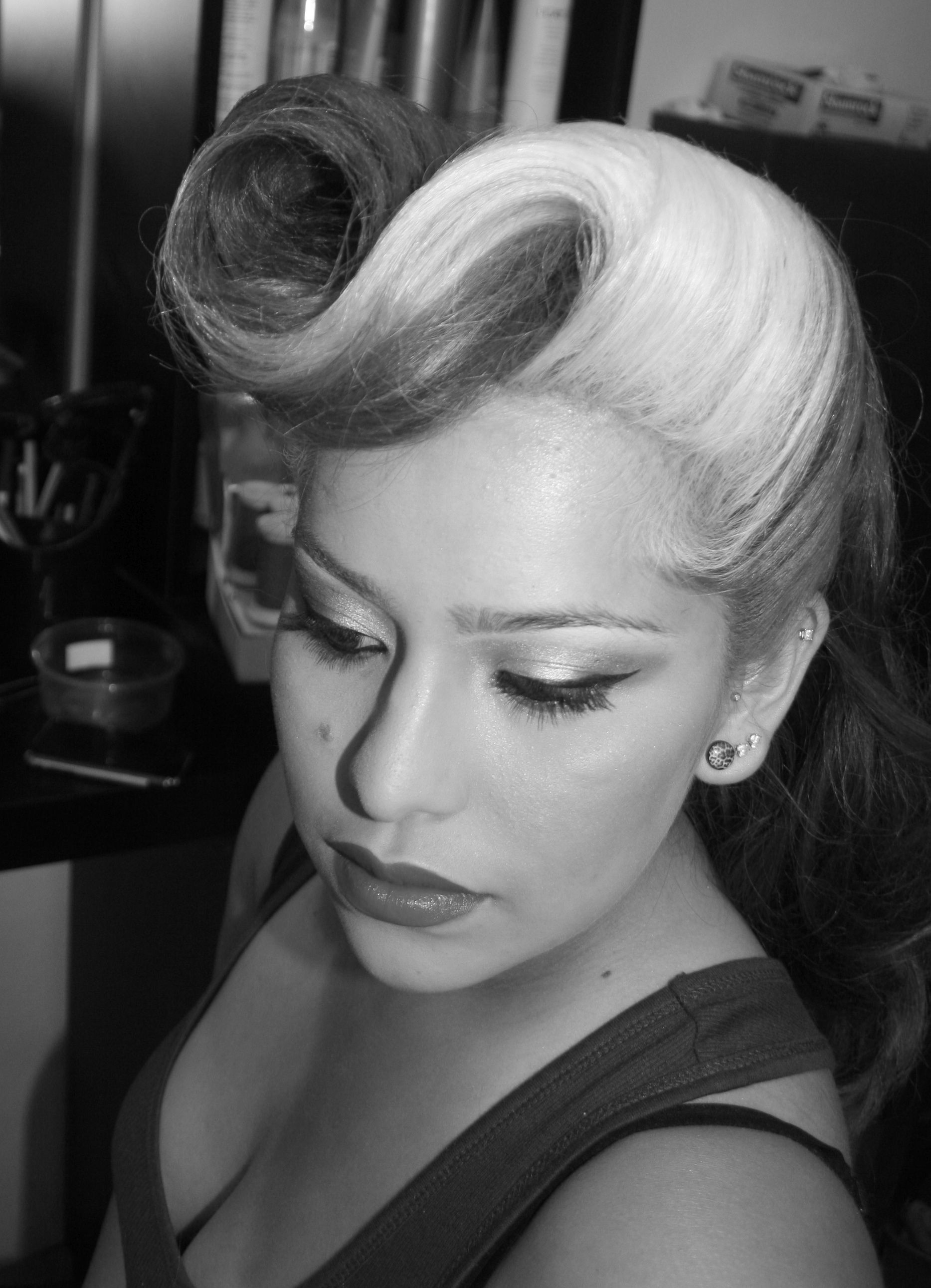 Vintage inspired hair with a modern twist from retrodous go see