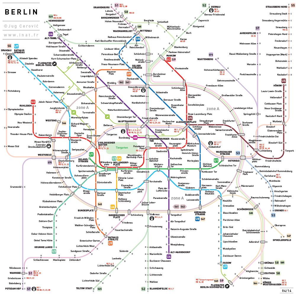 Public Transport Maps Redesigned Seyahat