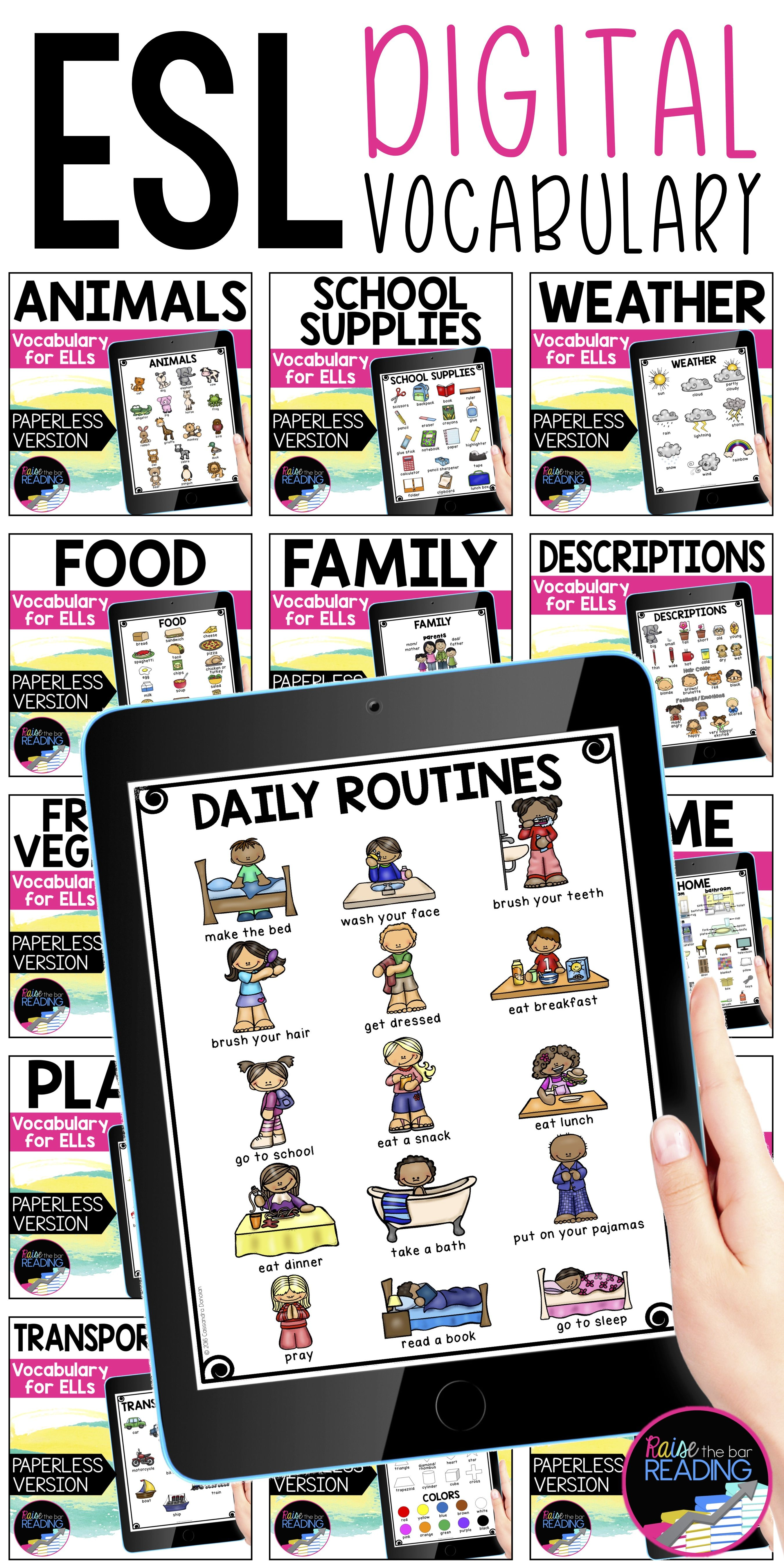 Digital Ell Newcomer Vocabulary In