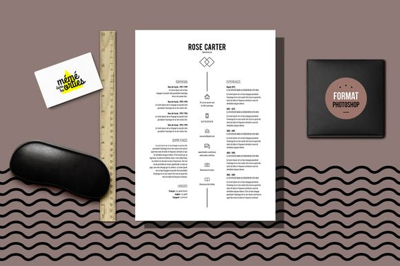 Carter - Resume template Photoshop @CleanResume Resume Templates - photoshop resume templates