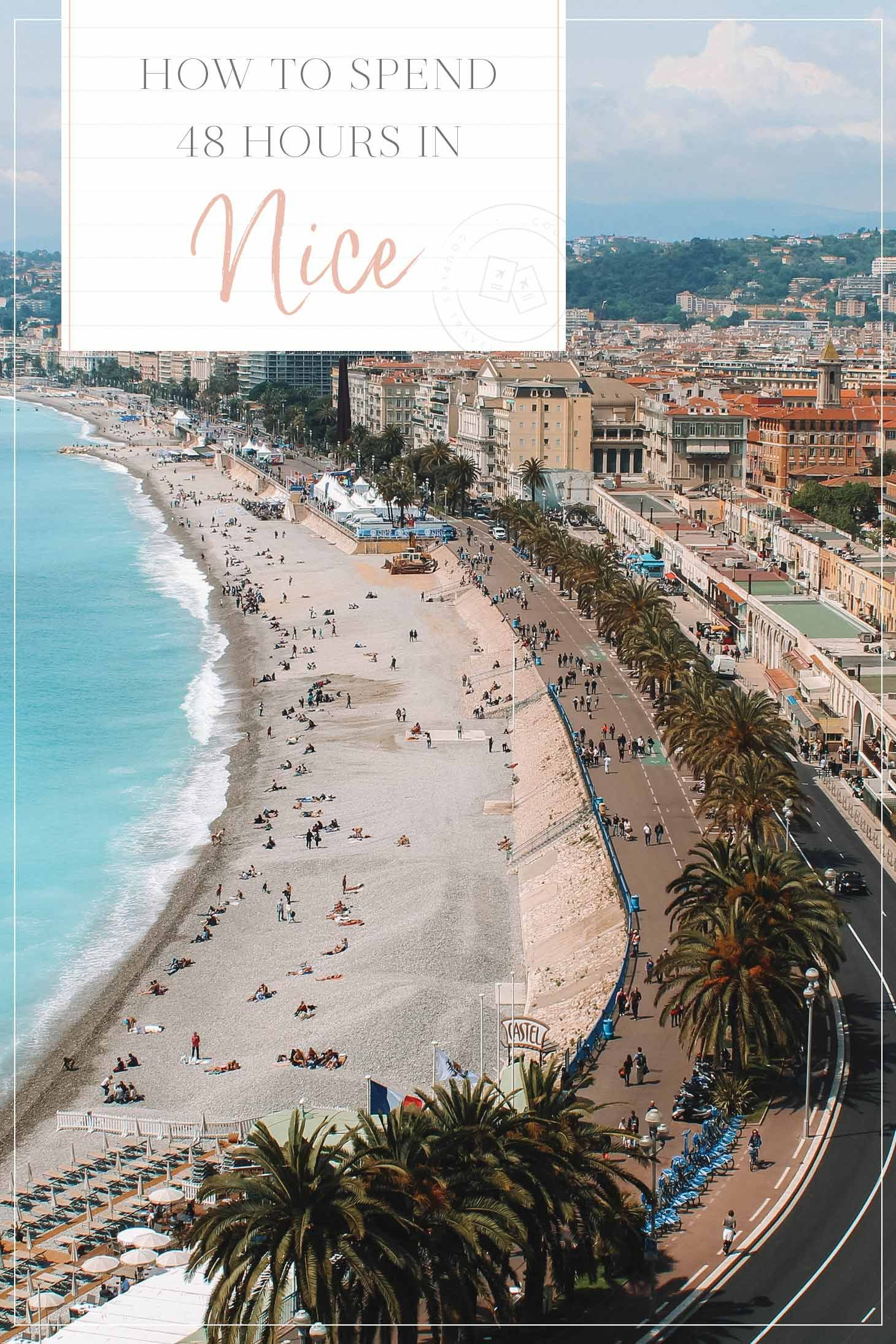 Located on the French Rivera,Nicehas everything you need for a quintessential weekend away. It boasts year-around sunshine, gorgeous beaches, an intriguing history, museums, and a booming restaurant scene.Plus, it's a city for all budgets and more affordable than it's glamorous neighbors Cannes and St. Tropez. Here is my guide to 48 hours in Nice, France!   France Travel Tips   France Travel Guide   #nice #france #traveltips