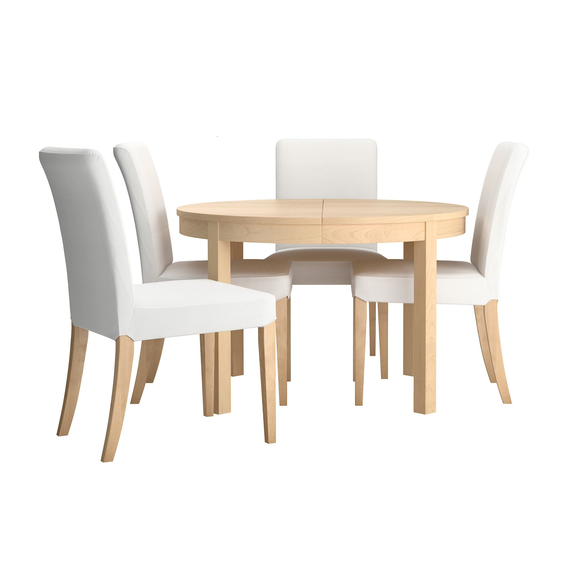 bjursta henriksdal table and 4 chairs gobo white birch 45 1 4 ikea my dream living. Black Bedroom Furniture Sets. Home Design Ideas