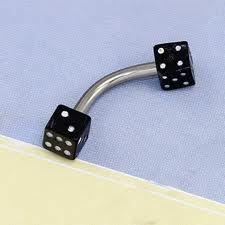 Eyebrow bar with dice