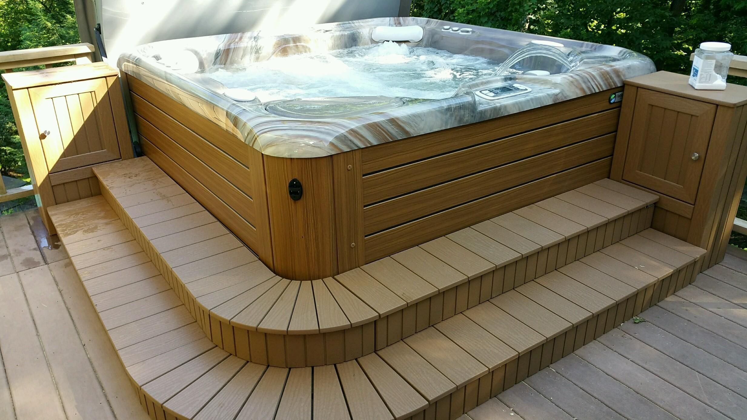 Image Result For Custom Hot Tub Steps Custom Hot Tubs Hot Tub
