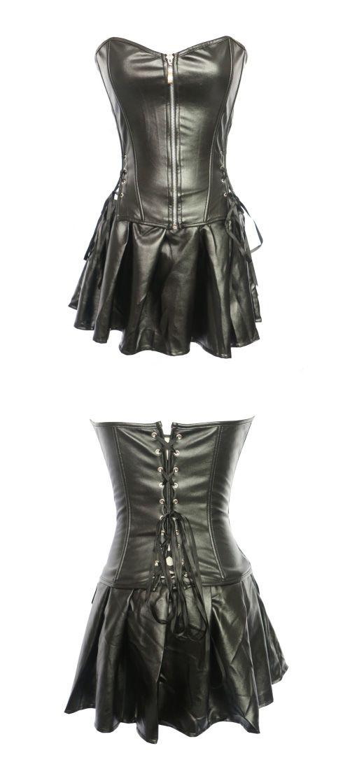 beea2c0fd62 Women s Zipper Corset Dresses   Plus Size - Solid Colored