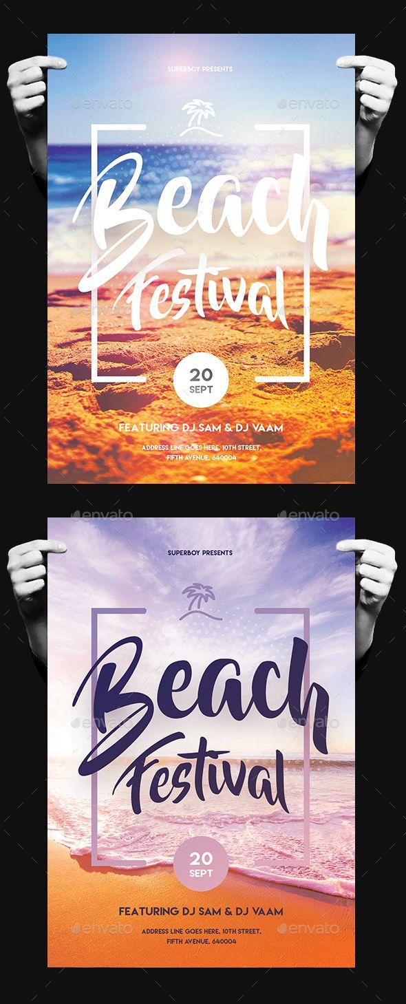 Beach Festival Flyer | Visitenkarten, Einladungen und Plakate