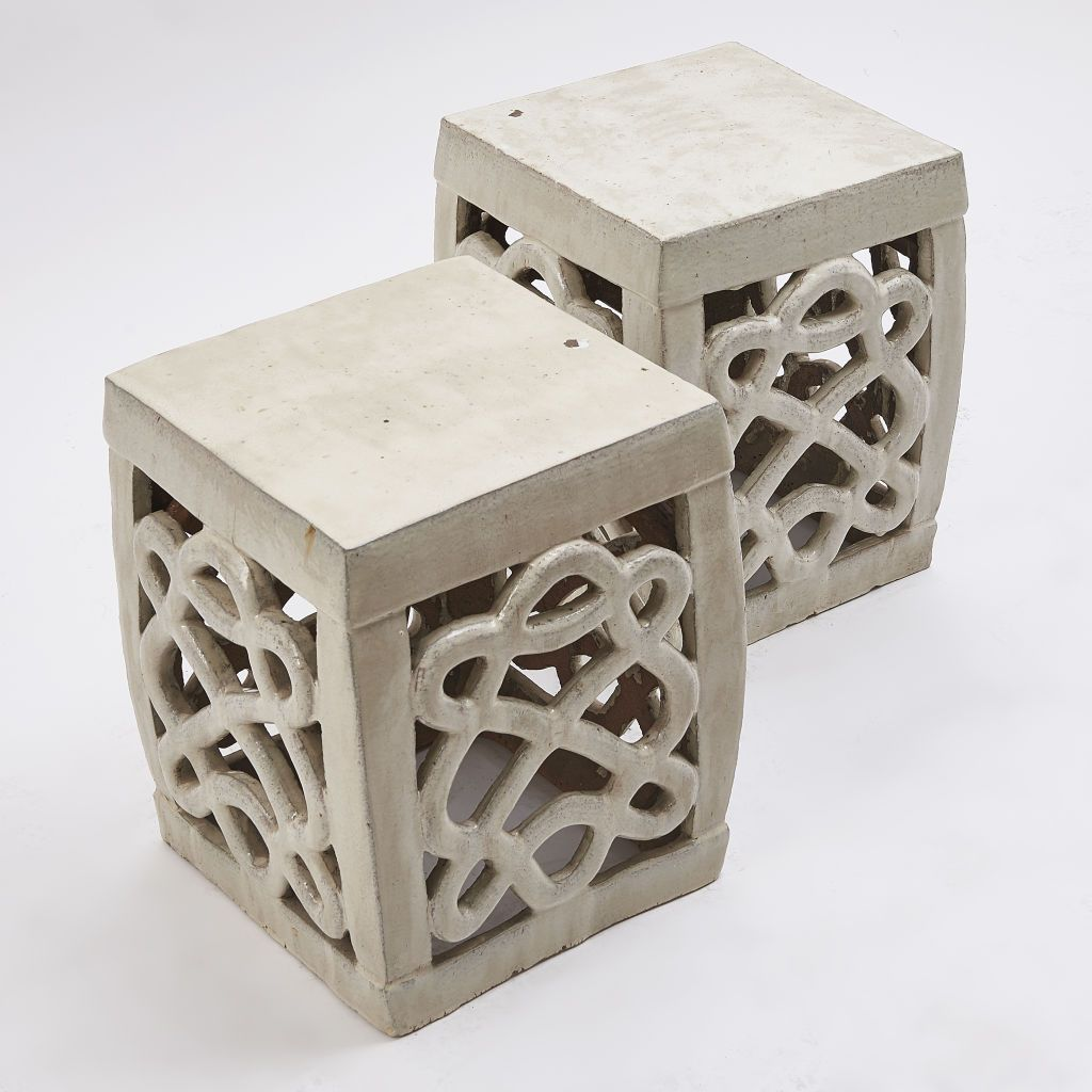Guinevere Antiques » Square Calligraphy Garden Stools