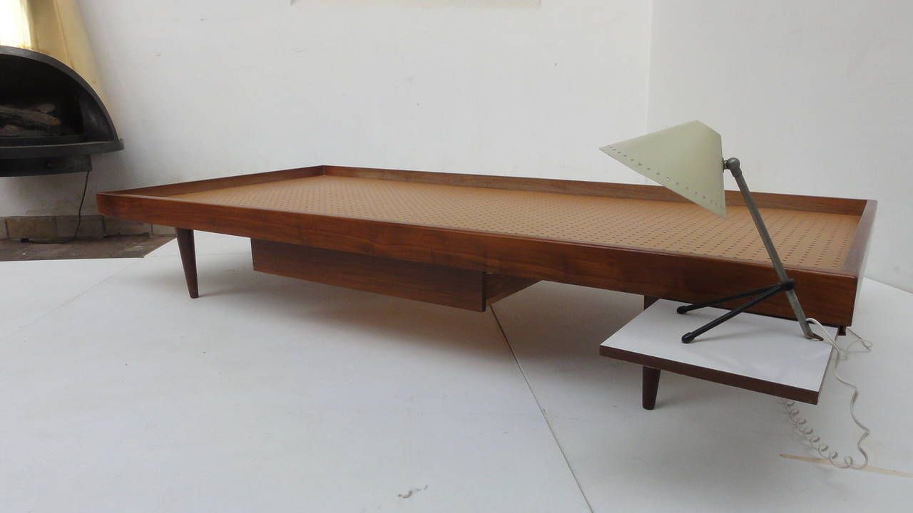 Daybed danish  1950s Teak Danish Daybed with Original Never Ssed 'Kapok' Mattress ...