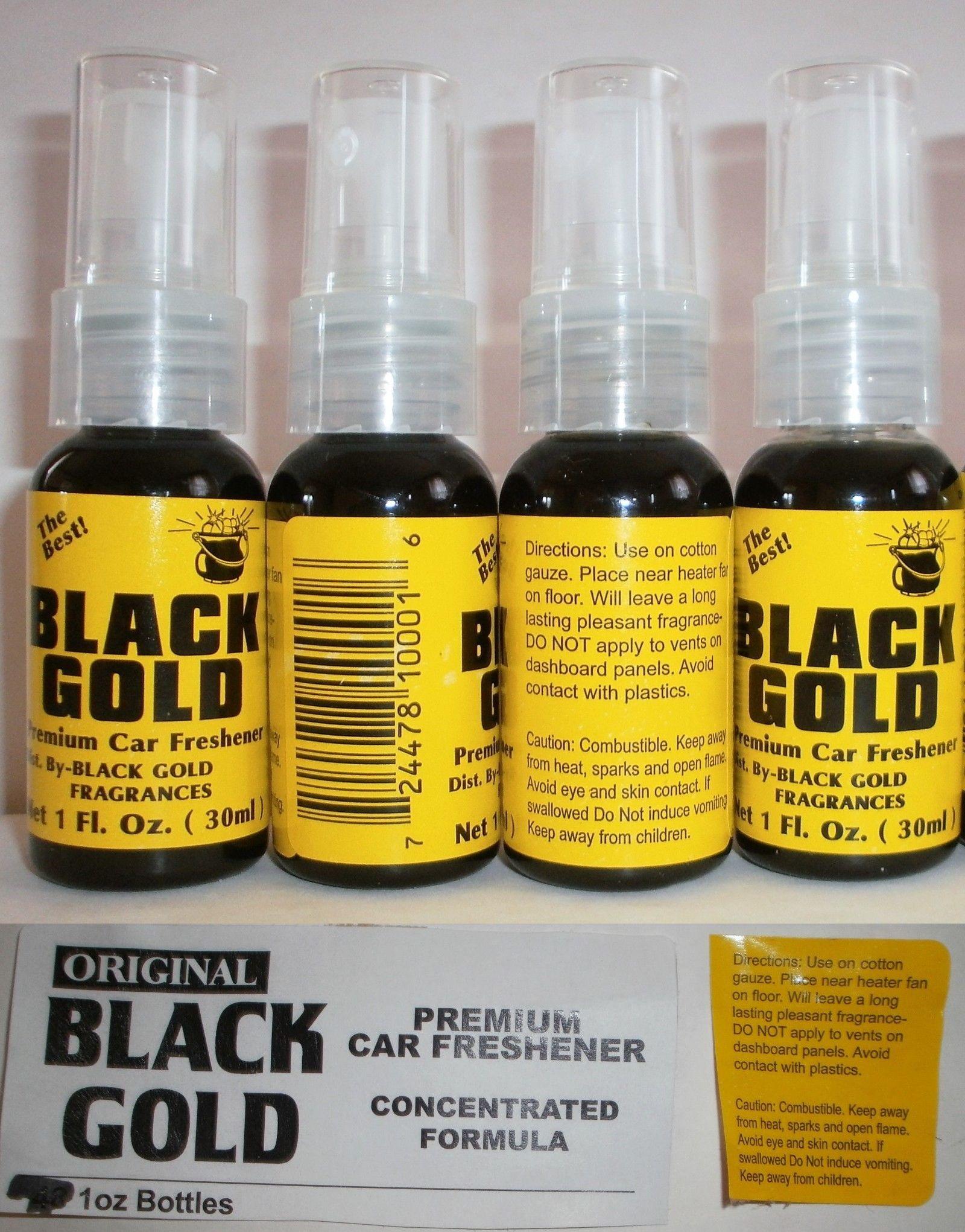 Black Gold Original Premium Car Freshener 4 Spray Bottles Net 1 Fl Oz Car Freshener Bottle Spray Bottle