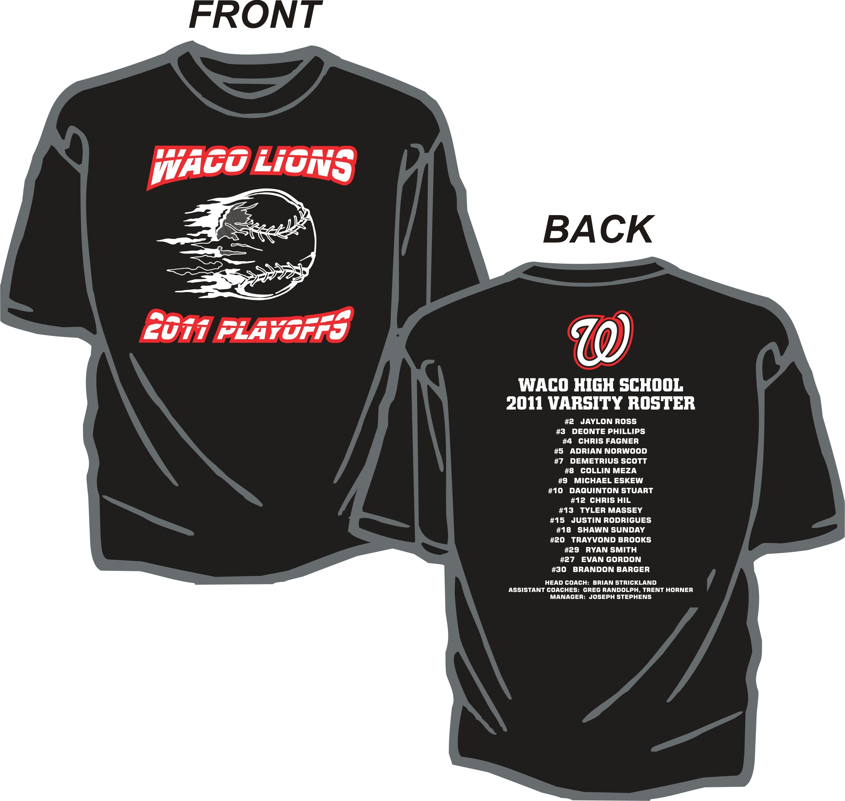 High School Baseball Playoff T-Shirts