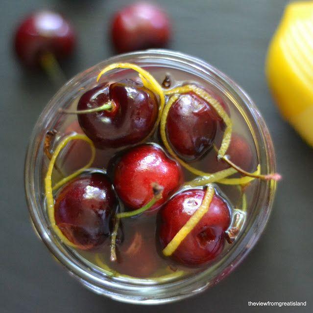 Limoncello Cocktail Cherries #limoncellococktails