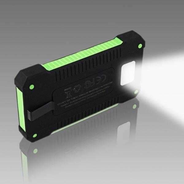 2017 New Portable Waterproof Solar Power Bank 10000mah Dual Usb Solar Battery Charger Powerbank Solar Power Charger Solar Battery Charger Portable Solar Power