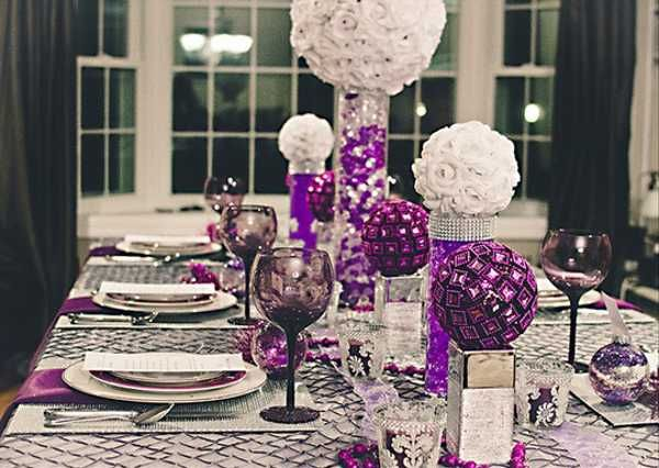 Charmant Charcoal Gray And Purple Decor | White And Purple Table Decorations,  Centerpieces For Christmas Or