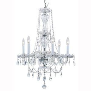 Hampton Bay Lake Point 6-Light Chrome and Clear Crystal