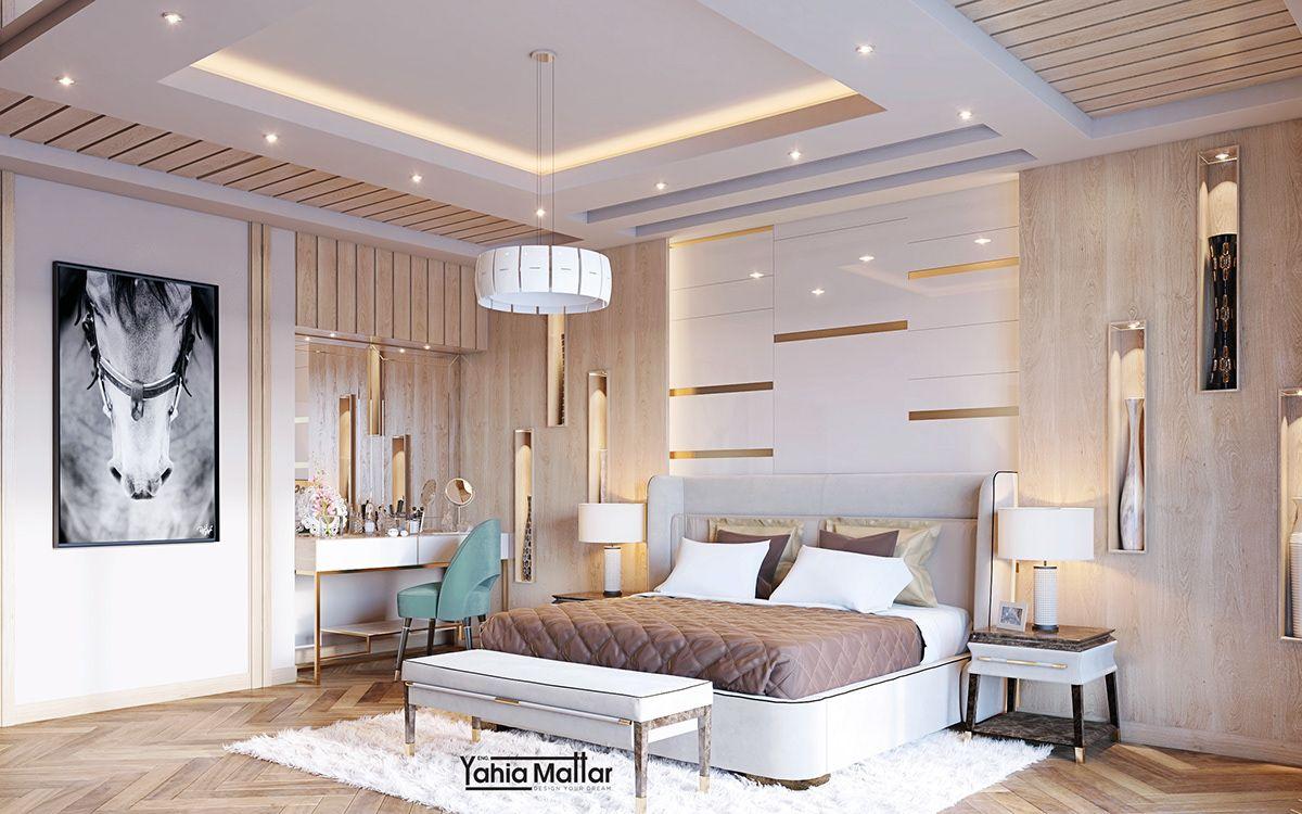 luxury bedroom on Behance | Bedroom false ceiling design