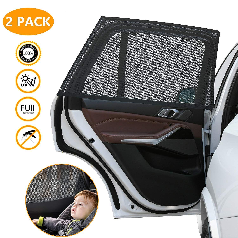 2 Stück Sonnenschutz Auto Sonnenblende Auto Universal Sonnenschutz Kinder