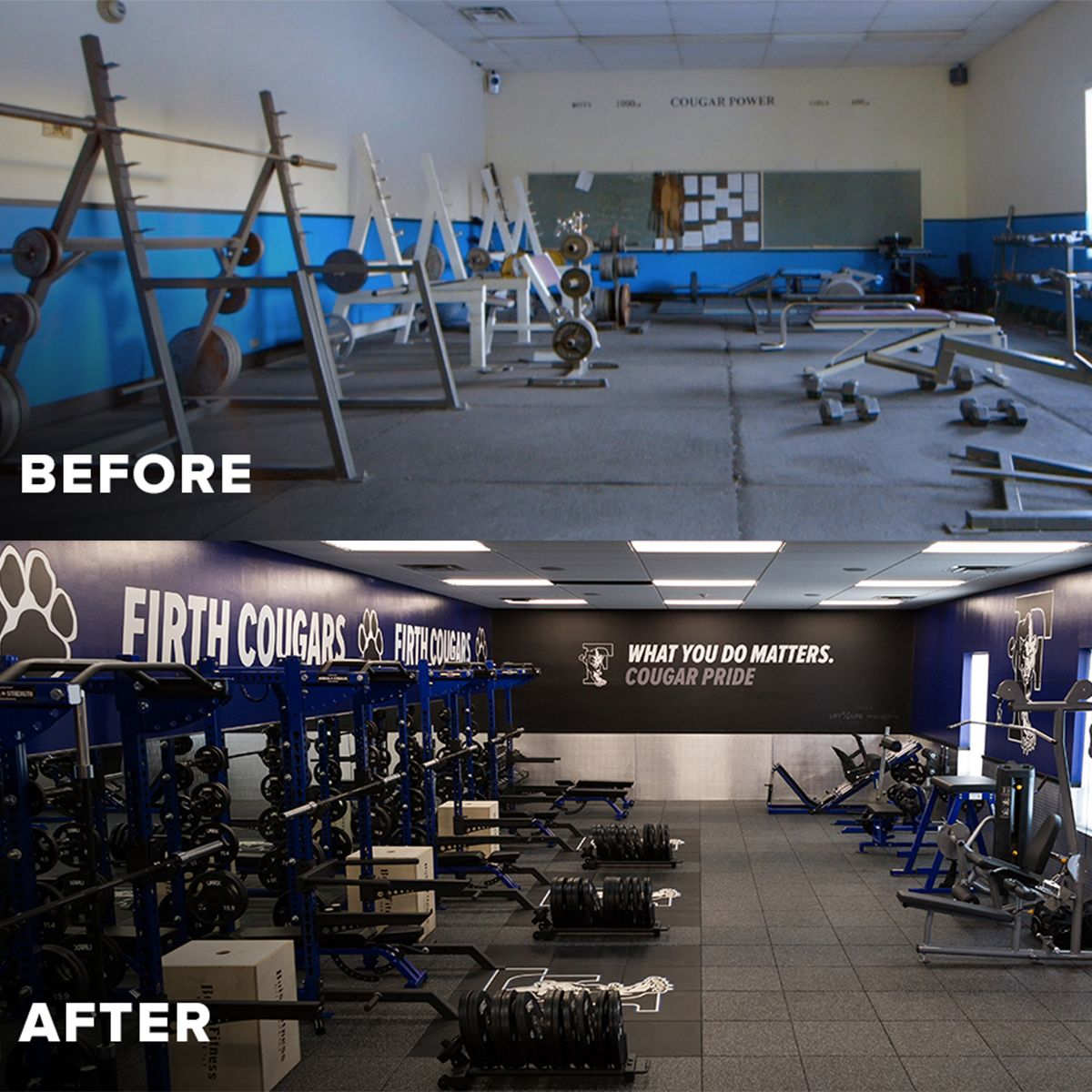 Firth High School In Firth Idaho Weight Room Remodel With Arsenal - Weight room design