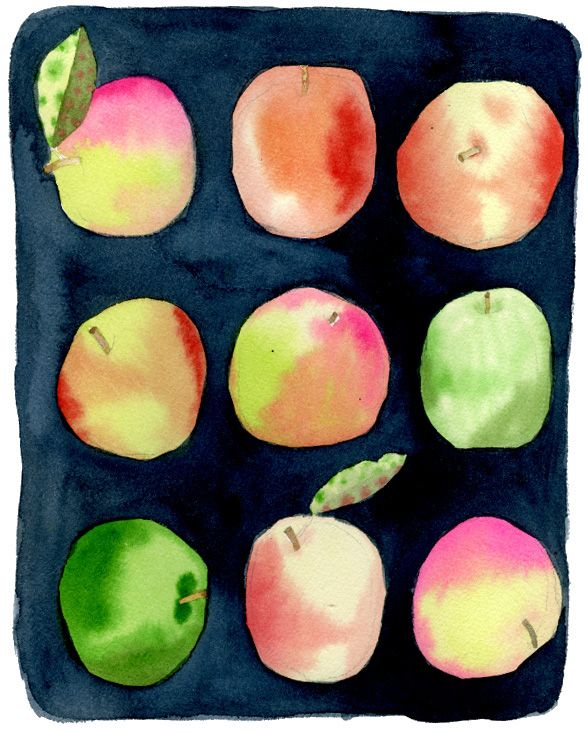 """""""Apples"""" watercolor by Emily Proud"""