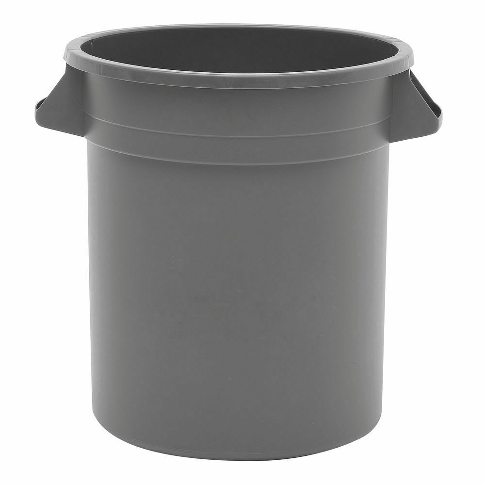 Hubert Trash Receptacle Garbage Can 10 Gallon Grey Plastic 15 7 8dia X 17h Garbage Can Garbagecan In 2020 Trash Receptacle Garbage Can Kitchen Trash Cans