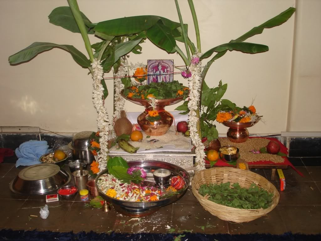 Satyanarayana Pooja Decoration Satyanarayan Puja Photo By