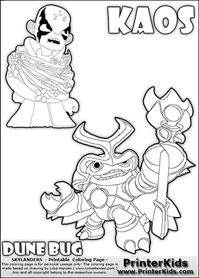 skylanders swap force coloring page with kaos the skylanders swap force villain and a