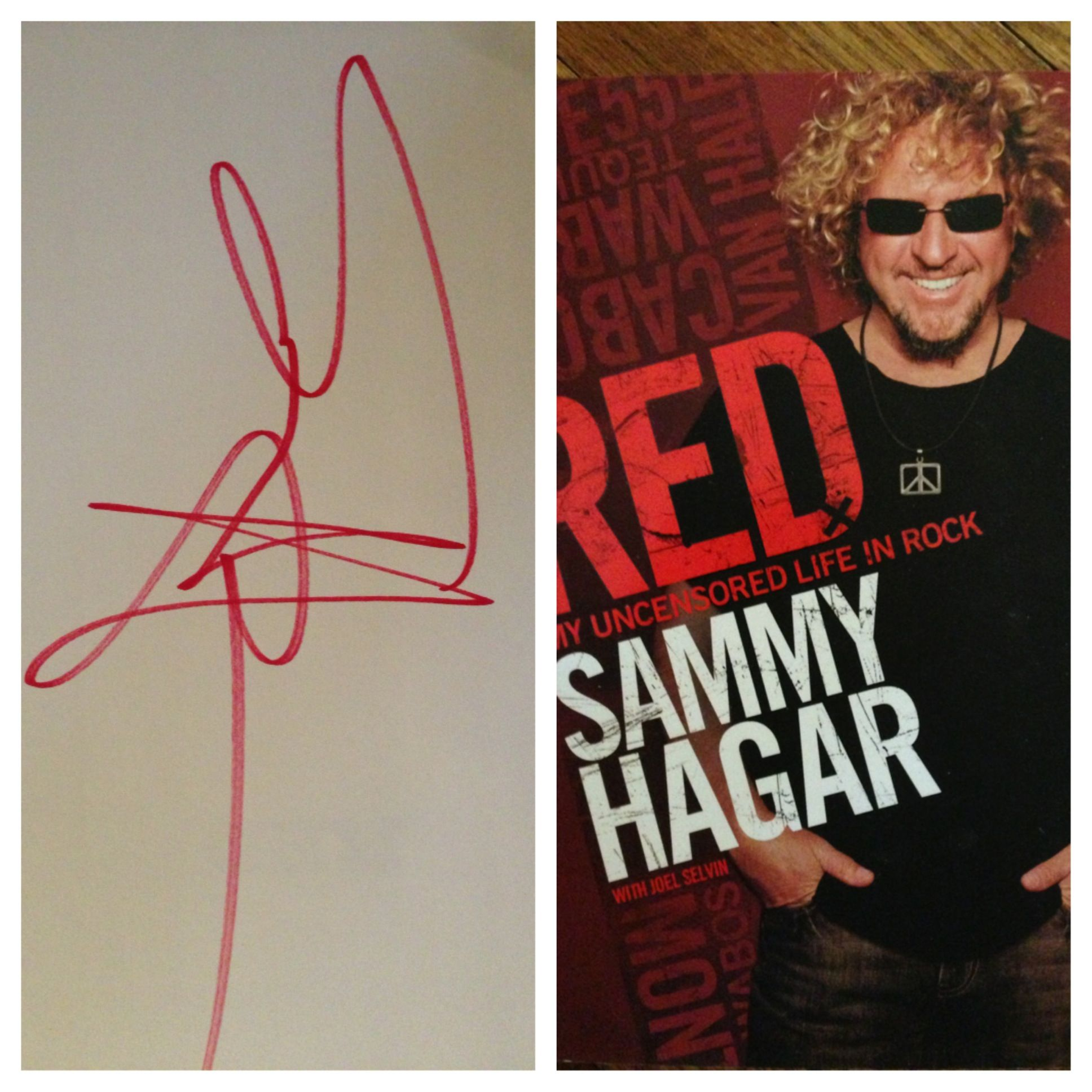 Sammy Hagar Sammy Hagar Autographed Book Rock Music