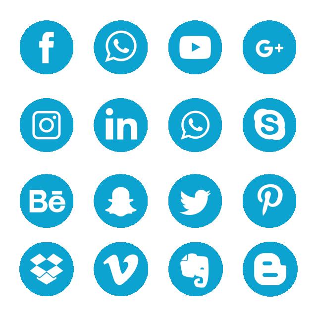 Blue Social Media Icons, Social Media Icons, Social Media