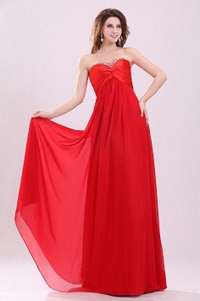 Robe rouge de h & m