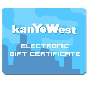 Get The Ultimate Gift For The Ultimate Fan Kanyewest Gift Certificate Kanye West Company Logo Electronic Gifts