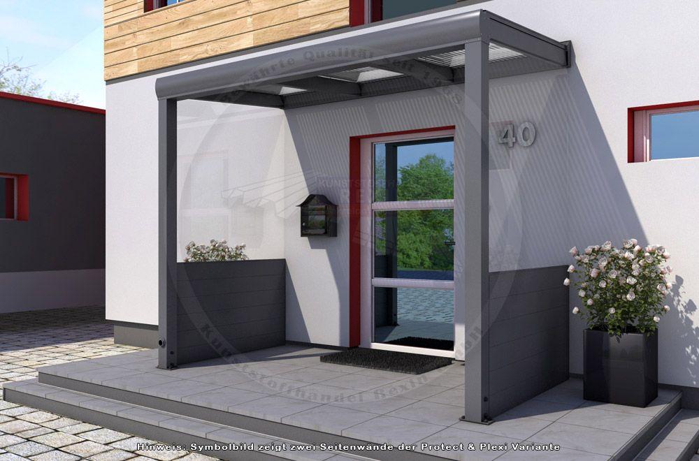 Noch mehr schutz vor wind und wetter mit rexovita - Vordach mit seitenwand ...