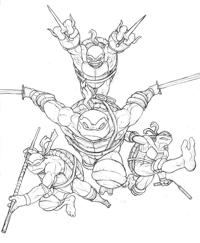 tmnt coloring pages on pinterest - photo#2
