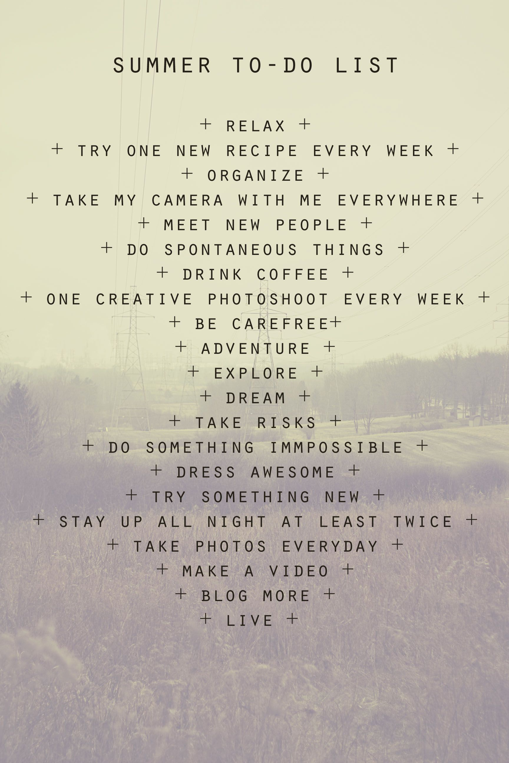 made my own summer to do list bucket list Pinterest – Another Word for to Do List