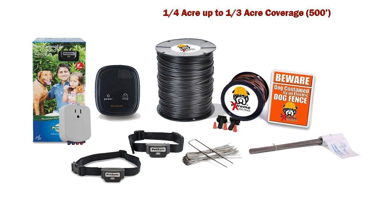 Petsafe Rechargeable Pro Grade In Ground Dog Fence 2 Dog System 1 4 Acre Up To 1 3 Acre You Can Find Out More De Dog Fence Dog Training Tools Cat Fence